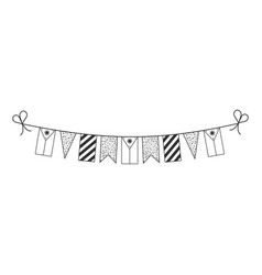 Decorations bunting flags for philippines vector