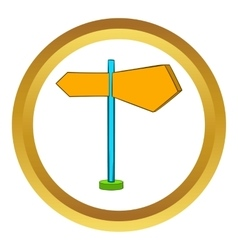 Direction signs icon cartoon style vector