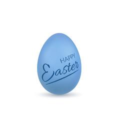Easter egg 3d icon blue egg lettering isolated vector