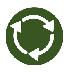 Eco shopping recyclable or reused material vector