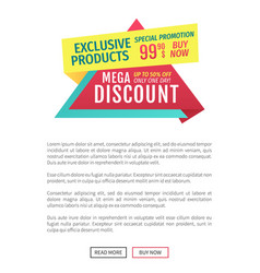 exclusive products discount vector image