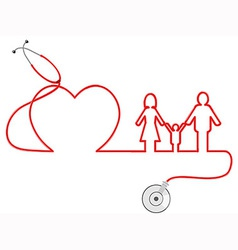 family Healthcare vector image