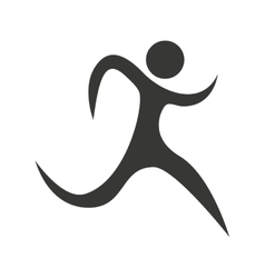 Figure athlete silhouette icon vector
