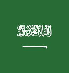 flag of saudi arabia in official rate and colors vector image