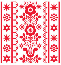 floral cute seamless textile pattern vector image