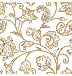 Floral pattern seamless oriental arabesque vector
