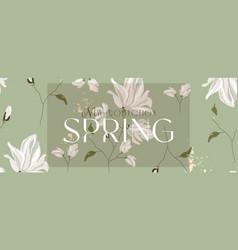 floral spring social media banner vector image
