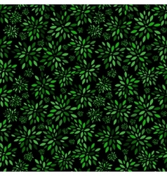 Flower Leaves Pattern Background vector image