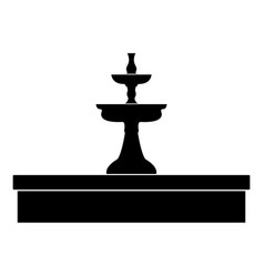 Fountain the black color icon vector