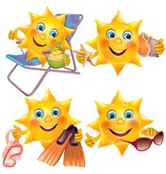 Fun sun on vacation vector image