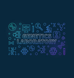 Genetics laboratory colorful line vector