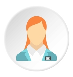 Girl worker icon flat style vector