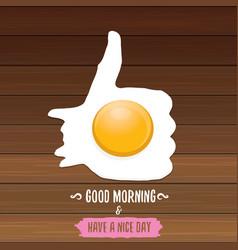 Good morning concept breakfast fried chicken egg vector