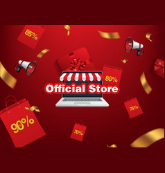 grand opening official store sale bag online shop vector image