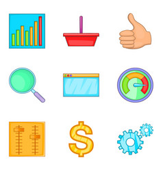 Great effort icons set cartoon style vector