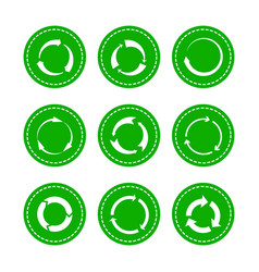 green recycling round arrows vector image
