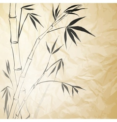 Grunge Stained Bamboo Paper vector image