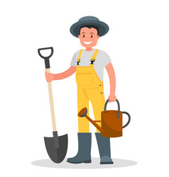 happy gardener vector image