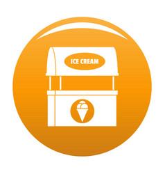 Ice creme selling icon orange vector
