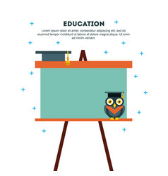 Icons set graduate owl vector