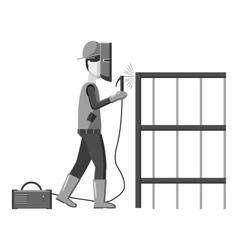 Industrial construction welder worker icon vector