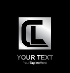 initial letter cl logo design template element vector image