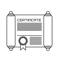 Isolated diploma with seal stamp design vector
