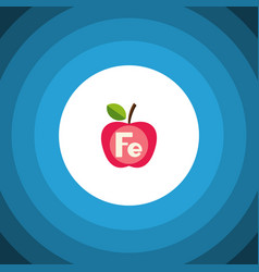 Isolated ferrum flat icon apple element vector