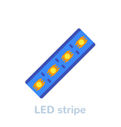 Led stripe icon on white flat vector