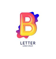 Letter b latin alphabet display vector