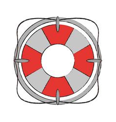 Lifesaver flaot symbol vector