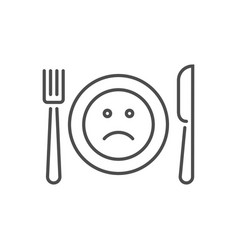 Loss appetite related thin line icon vector