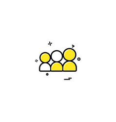 My space icon design vector
