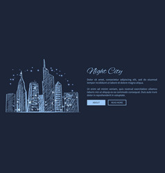 night city web page and text vector image