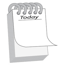 notepad for notes vector image