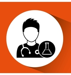 Nurse character test tube science chemical esign vector