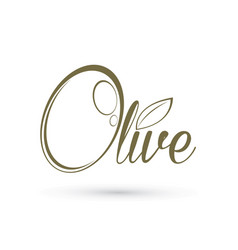 olive text design graphic outline vector image