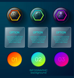 option circles pictogram background vector image