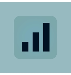 Pale blue volume scale icon vector
