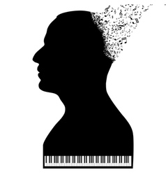 Pianist like a piano vector image