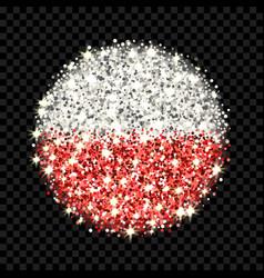 poland flag sparkling badge vector image