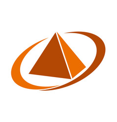 pyramid service vector image