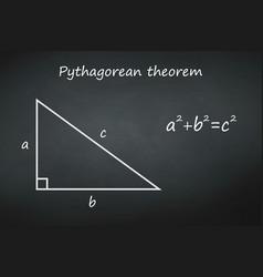Pythagoras theorem on chalkboard template vector