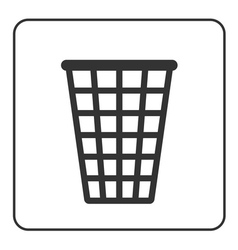 Recycle icon trash bin sign vector
