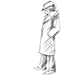 Retro dressed man vector