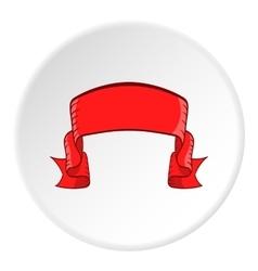 Ribbon icon cartoon style vector image