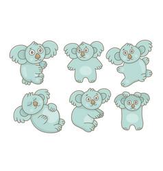 set koalas vector image