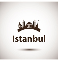 Silhouette of Istanbul Turkey vector