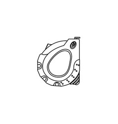 Sketch silhouette closed tape measure icon vector