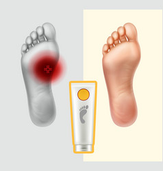 soles with painful point vector image